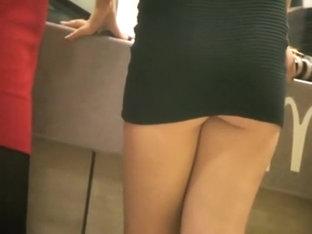 Chav Girl's Ass Is Barely Covered