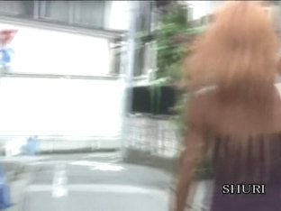 Slender Brown-haired Japanese Vixen Gets Involved In Unexpected Sharking Affair