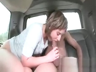 Amateur Hottie Sucks A Huge Cock On Bus Back Seat