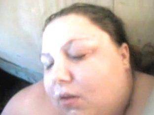 Chunky Busty Babe Masturbates