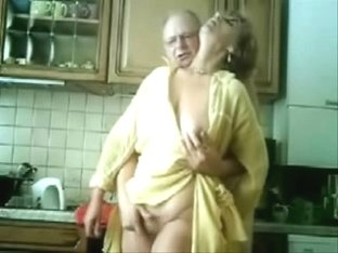Mommy And Man Having Fun In The Kitchen. Stolen Video