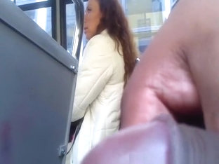 Black Guy Flashes Cock In Bus