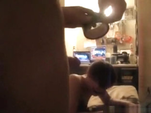 Girl With Clown Face Makes A Homemade Sextape With Her BF