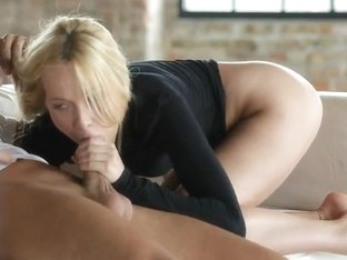 Lina Napoli Sucks Dick While Showing Soles