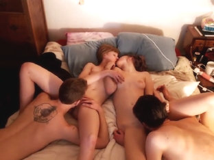 Young Couples Have An Amazing Foursome