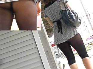 Darksome Sheer Hose Up Petticoat View Spying