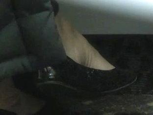 Black Flats Of Co-worker - Beautiful Milf Feet