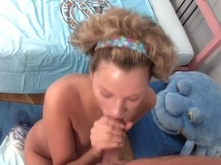 Curly Haired Teen Gets Her Pussy Filled With A Creampie