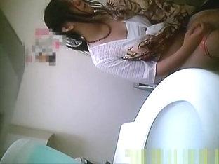 Asian Women In Public Toilet