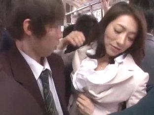Hottest Japanese Chick Marina Matsumoto, Misa Yuuki, Miwako Yamamoto In Crazy Cumshots, Stockings .