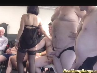 Cute Preggo Teens First Gangbang
