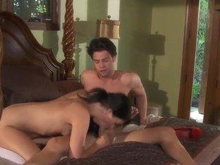 Bedroom Sex With Hot Teen Brunette Madelyn Monroe