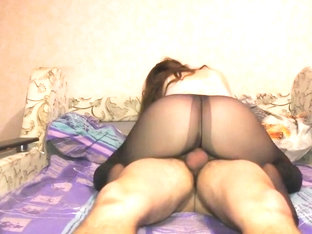 Teen Big Ass In Nylon Pantyhose Pussyjob