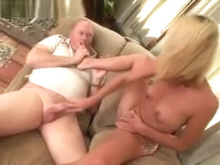 Gorgeous Blonde Gets Foot Worshipping