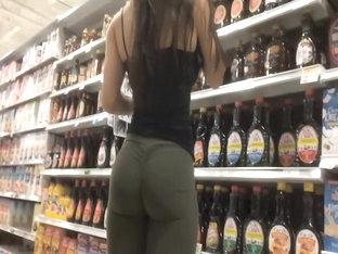 Hispanic Girl's Firm Ass In Tights