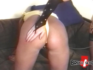 Dyke Femdom Teaches Some Manners To Beautiful Sub Babe