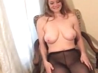 Girl Shows Big Naturals