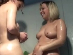 Some Soap And 2 Hawt Hotties In Shower.