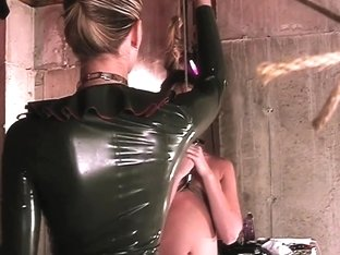 Mistress Spanks BDSM Sub With Paddle And Waxes Her Ass