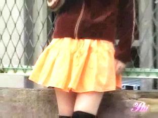 Her Orange Skirt Was Sharked By Some Total Stranger