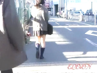 Energetic Asian Hoe Gets Very Surprised When Stranger Lifts Her Skirt
