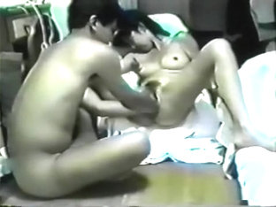 Asian Wife Moans As Hubby Double Fists Her Tight Cunt
