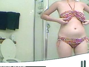 Changing Into Bikini