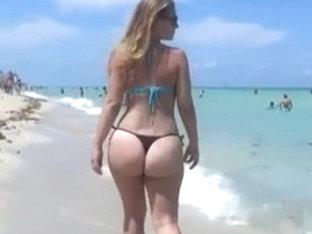Sexy Big Ass On Beach 2014