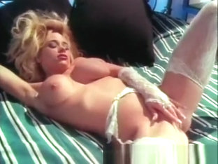 White Lace Stockings Busty Fake Tits Kaitlyn Ashley Solo