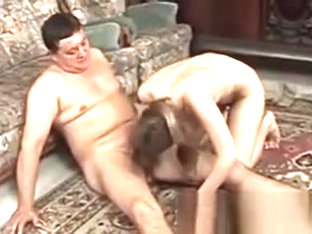 Old Cock Fucks Young Pussy