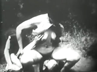 Lucky Vintage Porn Guy Gets To Fuck Two Young Sluts Outside At The Same Time