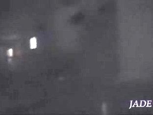 Japanese Beauty Drills Her Bun In Kinky Spy Video
