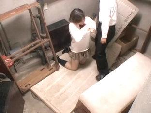 Teen Japanese Hottie Gets A Skull Fuck On A Spy Camera