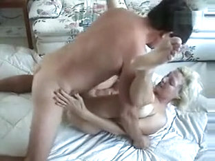 Mature Blonde Slut Talking Dirty To Her Man While She's Getting Drilled In Several Positions And T.