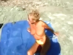 I Taped Two Concupiscent Mature Hotties On The Nudist Beach