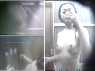 Japanese Teen Takes Shower