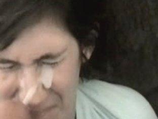 Cerebral Palsy Jonna Sucks Strapon And Acquires A Facial Spunk Fountain