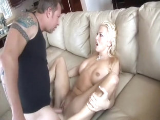 Hot Blonde With Fake Titties Trades Head And Gets A Good Old Fashioned Fuck