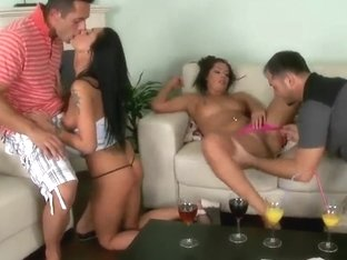 Foursome Fuck With Euro Brunettes Cipriana And Destiny