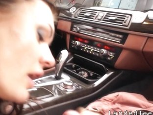 Big Tittied Teen Does Anal In The Car