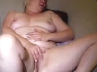 Excited Big Beautiful Woman Wife Sticks In 2 Fingers