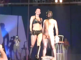Extreme Needle Fetish On Public Stage