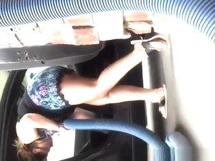 Chubby Latina Woman Upskirt