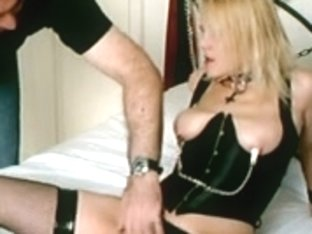 British Blond Sub Slut Manacled Up And Used