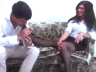 Nylon Foot Job Interview