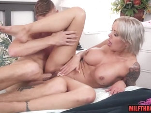 Asian Mom Tittyfuck With Cumshot