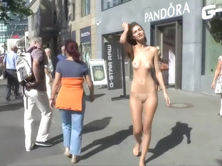 A Lonely Girl Naked In Berlin