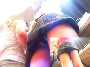 Recording Dark Panty Upskirt From Underneath