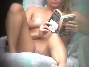She Reads A Book And Swims Naked