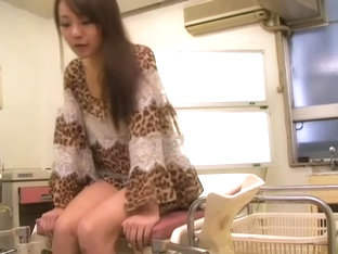 Hairy Japanese Hottie Filled With Jizz During Medical Exam